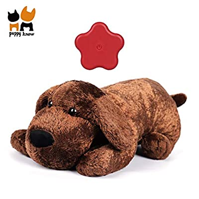 Puppyknow Puppy Behavioral Training Aid Toy for Anxiety Relief, Heartbeat Dog Toy with Automatic Timing for Smart Dogs Cats, Newborn Puppies Sleep Aid Separation Anxiety