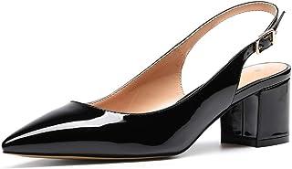 CASTAMERE Escarpins Femme Talon Slingback Chaussures à Talons Haut Sexy Bout Pointu Fermé High Heels Talons Hauteur 5CM