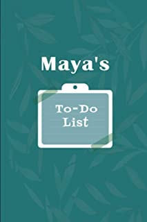 Maya's To˗Do list: Checklist Notebook | Daily Planner Undated Time Management Notebook