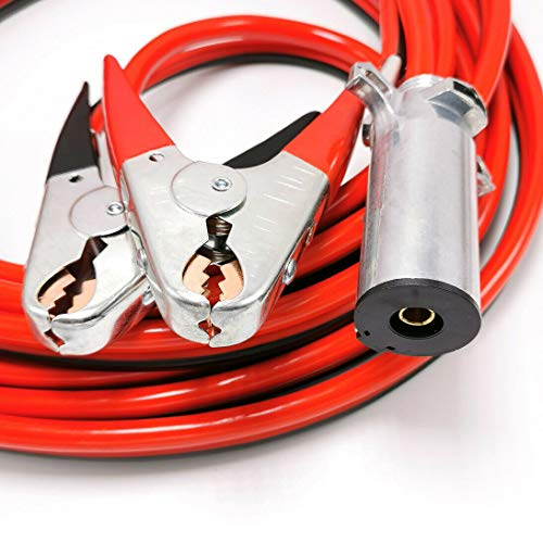 Piper Jumper Cables, 25 Feet, 2 Gauge Heavy Duty Aircraft Booster Jump Start Cable