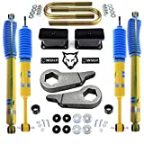 WULF 1-3' Front 3' Rear Lift Kit with Bilstein Shocks compatible with 1998-2011 Ford Ranger 2WD 4X4 with Torsion Bar Suspension