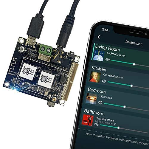 WiFi & Bluetooth 5.0 Audio Vorverstärker Receiver Platine, Wireless Multizonen-Heim-Stereo-Musikschaltungsmodul mit Airplay Spotify-Anschluss für DIY-Vorverstärker - Arylic Up2stream Mini V3