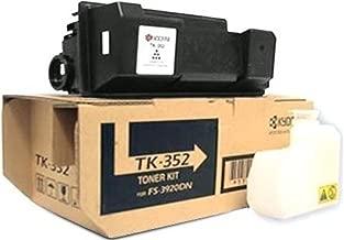 Kyocera 1T02LX0US0 Model TK-352 Black Toner Cartridge For use with Kyocera FS-3040MFP, FS-3040MFP+, FS-3140MFP, FS-3140MFP+, FS-3540MFP, FS-3640MFP and FS-3920DN Printers