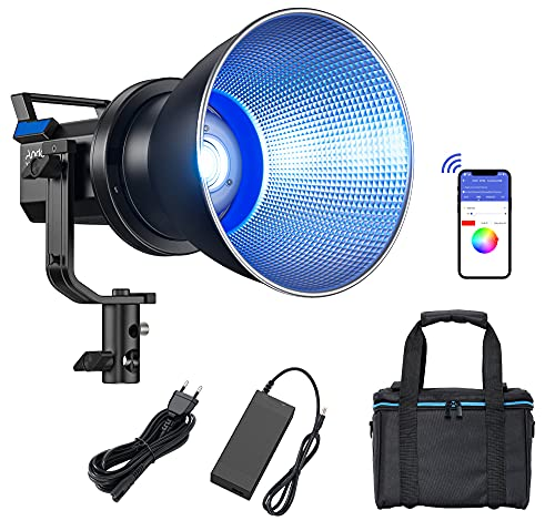 Andoer X60RGB Lampada video portatile a LED 80W RGB Photo Light 2800K-10000K CRI96 + TLCI95 + 10-Light Dimmerabile APP Control Schermo LCD Bowens Mount
