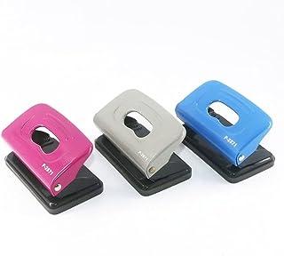 Mini perforateur Double trou deux trous papier perforateur Portable métal ABS école bureau papeterie 10 feuilles perforate...