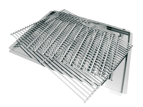 Activa Grillrost, Brennerabdeckung und Fettauffangschale, Silber