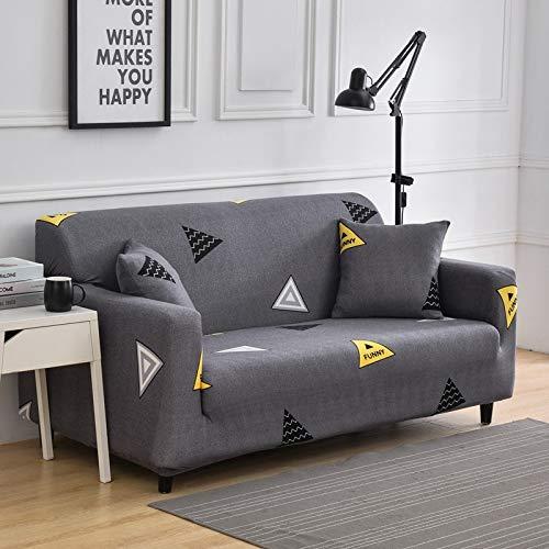 PPMP Sala de Estar Cubierta de sofá elástica con Todo Incluido Funda de sofá de celosía elástica Funda de sofá de sofá Inferior A14 4 plazas