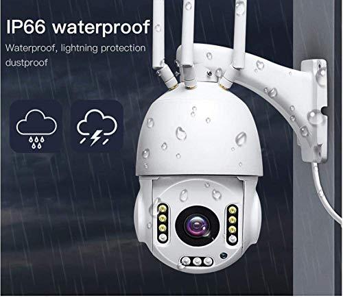 Bewakingscamera, draadloze bewakingscamera met 30 x optische zoom, wifi 1080p HD PTZ IP-camera, voor buiten 2MP With 32GB wit