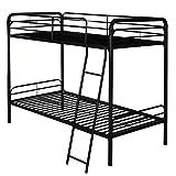 L.W.S Muebles de Dormitorio Cama de Metal en la litera Individual con Escalera de diseño de Espacio Multifuncional Ahorro