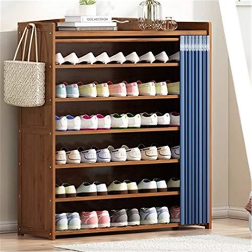 Goodvk Gabinete de Zapatos Estante de Zapatos para Uso doméstico de Almacenamiento de múltiples Capas de Guapo de Guapo, gabinete de Zapatos de Tela Simple. Gran Espacio de Almacenamiento