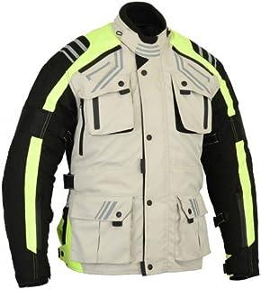 Bikers Gear Australia Men's Hi Viz Velocity Winter Motorcycle Jacket with Removable CE Armour