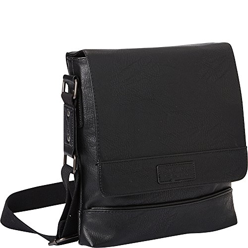 Kenneth Cole Reaction Grand Central Casual Slim Crossbody Tablet Case, Black