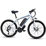 SMLRO Electric Bikes for Adults, 26'' 350/500/1000W Mountain Bike, Aluminum Alloy E-bike Bicycles with 48V...