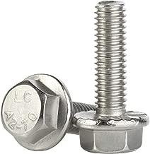 M6-1.0 x 25mm Flanged Hex Head Bolts Flange Hexagon Screws, Stainless Steel A2, DIN 6921, 25 PCS