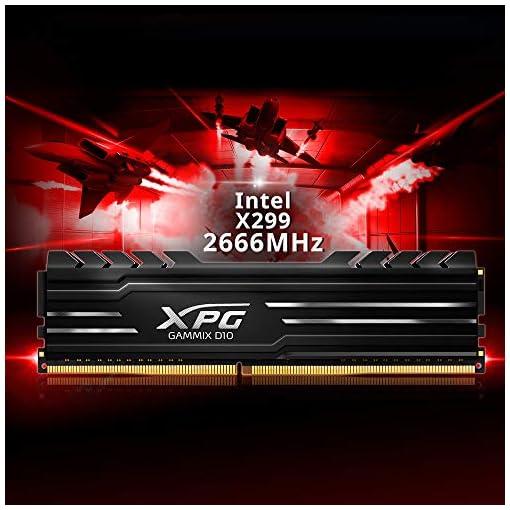XPG GAMMIX D10 - Memoria DDR4 de 4 GB de 2400 MHz, overclocking con Intel XMP 2.0, diseño único de disipador de Calor… 7