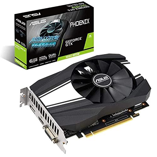 Asus GeForce GTX 1660 Super Overclocked 6GB Phoenix Fan Edition HDMI DP DVI Graphics Card (PH-GTX1660S-O6G)