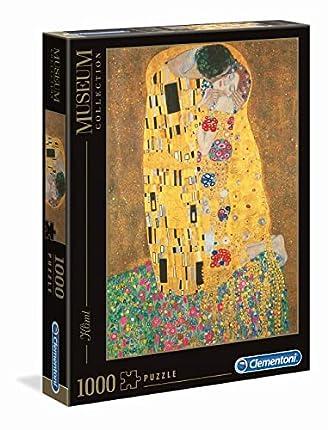 Clementoni- Museum Collection-Klimt: Il Bacio Gustav Pingüinos De Madagascar Puzzle, 1000 Piezas, Multicolor, 12+ (31442)