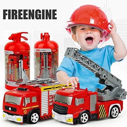 Ayanx Feuerwehrauto Feuerwehrmann Spielzeugauto Kinder Fernbedienung Baufahrzeug Modell Kinder Bildung Spielzeug Geschenk LKW Betonmischer Feuerwehrauto Müllkran Geburtstagsgeschenk (Größe: Stil 1)