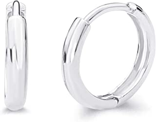14k Yellow OR White Gold 2mm Thickness Huggie Earrings (10 x 10 mm)