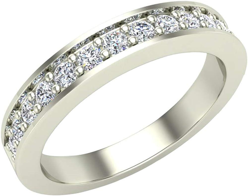 Wedding Super intense SALE Band for Women Pavé Virginia Beach Mall set Wide Di Matches mm 3.25 Diamonds
