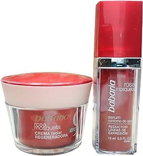 Babaria Estuche con Crema Facial Regeneradora y Reductor Línfas de Expresion Rosa Mosqueta
