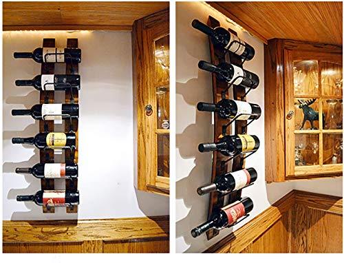 An der Wand montiertes Weinregal, einteiliges 6-Flaschen-Fass aus europäischem Stil, an der Wand montiertes Weinregal aus Wein Weinflasche an der Wand für zu Hause