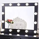 Dimmable Lighted Vanity Mirror for Bedroom with 3 Color Changing, Hollywood Makeup Mirror...