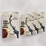 Carne Secca di Renna Gusto Sale Marino | RENJER Nordic Reindeer Jerky | Snack Proteico a Basso Contenuto di Carboidrati e Grassi | Senza Glutine | Confezione Risparmio (4 x 25g) |