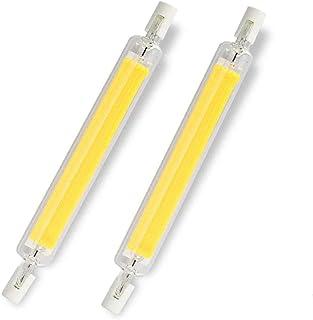 KIMROO 10W 118mm R7S LED Light Bulbs(2 Pack) 100W Halogen Enquivalent J-Type T3 R7s Base Double Ended Flood Light 6000K Daylight White 120V Dimmable for Landscape Light (White)