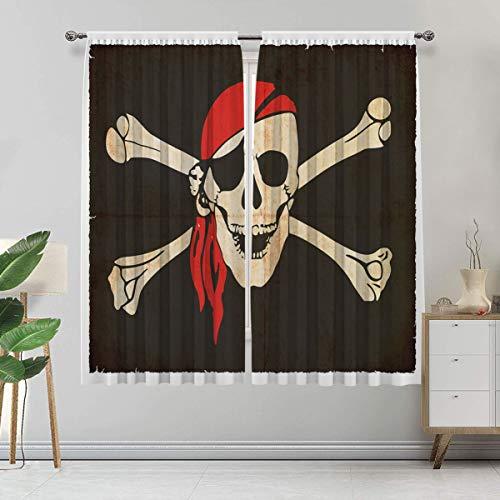 Cortina pirata hecha a medida, bandera de Tierra del Fuego Argentina en Grunge antigua, juego de 2 paneles, cada panel de 152 cm de ancho x 222 cm de largo, verde militar, beige bermellón