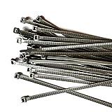 Gocableties Bridas de Plastico, Plata, 300 mm x 4,8 mm, Bridas Cables de Pimera Calidad, 100 Piezas