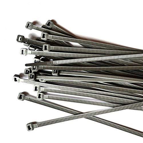 Gocableties 100 Stück, Kabelbinder silber, 300 mm x 4,8 mm, Premiumqualität UV-beständiges Set