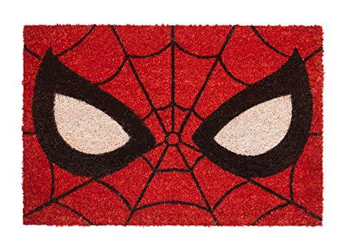 Felpudo Marvel Spiderman - Felpudo entrada casa antideslizante 40 x 60 cm - Alfombra entrada casa exterior Spiderman, Fabricado en fibra de coco - Productos con licencia oficial
