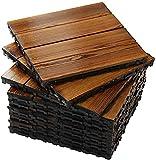 Baldosas de madera Terraza Baldosas 11 piezas de baldosas de...