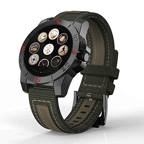 SaWaDiKa Puls-Monitor-Handy-Uhr Smartwatch, Bergsteigen / Laufen Herren, Kompass-Wasserdichte Uhr Barometer Höhenmesser Chronograph Außen-Uhr, Smartwatch Für Fitness