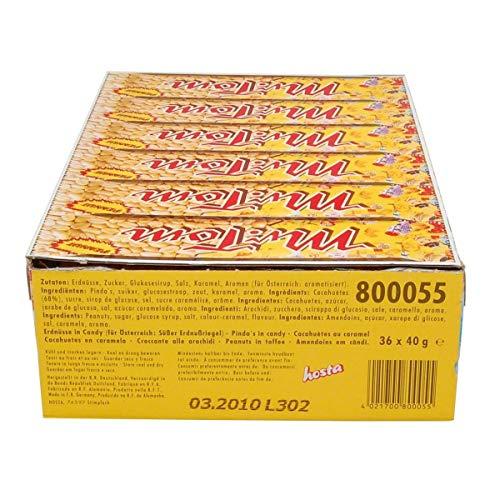 Mr. Tom: Erdnuss-Riegel - 1 Karton mit 36 Stück à 40 gr