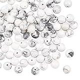OLYCRAFT 120 pz 8mm Naturale Howlite Perline Natura Jasper Perline Rotonde Allentate Perline della Pietra Preziosa Pietra Energetica per Braccialetto Collana Monili Che Fanno
