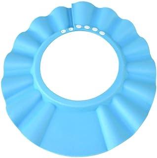 Safe Shampoo Shower Bathing Protection Bath Cap Soft Adjustable Visor Hat for Toddler, Baby, Kids, Children - BLUE