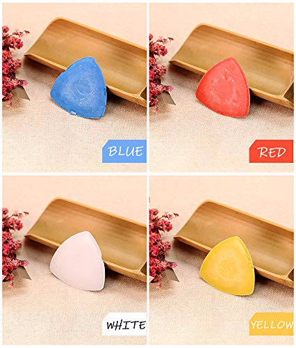Tailors Chalk Triangle Tailor's Fabric Marker Chalk - Triangle Chalks for Tailoring, Sewing, Quilting, Crafting, Notions, Fabric Marking - Sewing Notions & Accessories (20 Pieces. Assorted Colors)