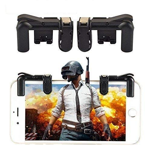 Casetegoo PUBG Gaming Joystick for Mobile || Trigger for Mobile Controller || Fire Button Assist Tool Smartphone L1R1 Trigger for Android/iOS