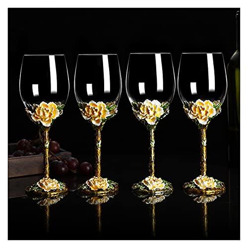 HHH Decantador de copa de vino de color de estilo europeo de estilo de vino Personalidad creativa for el hogar Copa de regalo de cristal de vidrio de vidrio de vino HHH ( Color : 4pcs Simple packagi )