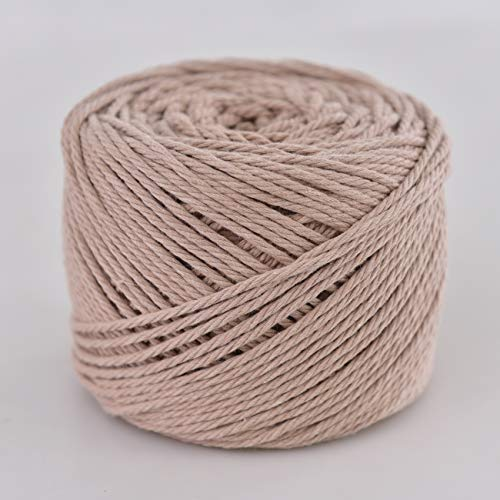 Handmade Decorations Natural Cotton Bohemia Macrame DIY Wall Hanging Plant Hanger Craft Making Knitting Cord Rope Natural Rose Color Macramé Cord (Rose, 3mm x100m(About 109 yd))