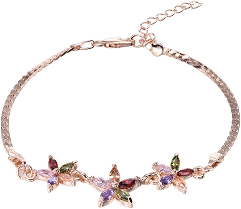 Heng Heng  gold plated fashion Beautiful Five Star Women Bracelets  HNGBG000412
