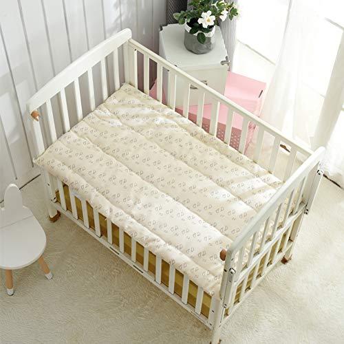 Kinderbett 100% Baumwolle Matratze, Baby Gesteppter Futon Schlafen Pad Weich Komfortabel Klappbar Roll-up Kinder Quilt-Kinderbett Matratze 60x110cm(24x43inch)