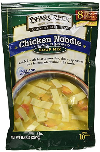 Bear Creek Country Kitchens Chicken Noodle Soup Mix, 9.3 Ounce (8 One Cup Servings) Per Bag (Pack of 2) by Bear Creek