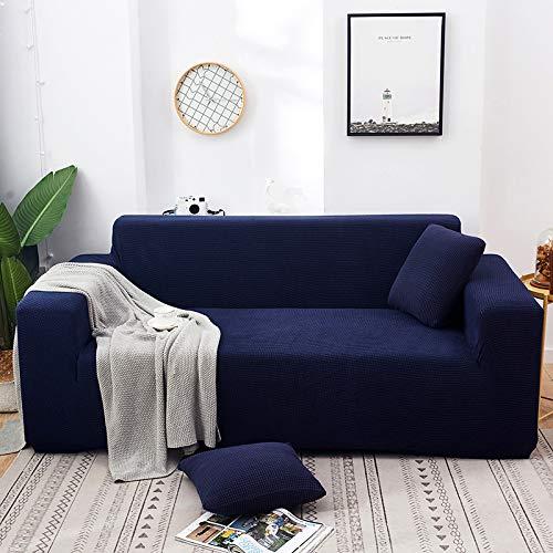 NOBCE Funda de sofá elástica Fundas elásticas Funda de sofá Todo Incluido para sofá de Diferentes Formas Funda de sofá Estilo L Azul Marino 145-185CM