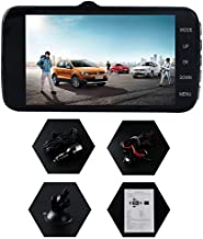 Grebest Car Camera Recorder Car DVR Camera Recorder 4inch Dual Lens 1080P HD Night Vision DVR Car Dash Cam Video Camera Recorder