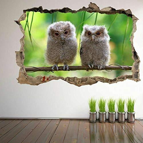 Wandtattoo Baby Owl Birds 3D Wall Art Sticker Mural Decal Poster Kids Room Home Decor
