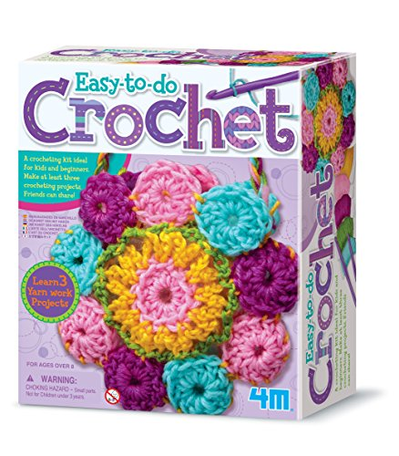 Product Image of the 4M 3625 Easy-To-Do Crochet Kit - DIY Arts & Crafts Yarn Gift for Kids & Teens,...
