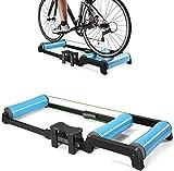 ZOUSHUAIDEDIAN Bicicleta plegable Trainer -Bicicleta Formación soporte de la bicicleta Trainer, ciclismo de carretera de rodillos for bicicletas de ejercicio, compatible con las motos que tienen un di